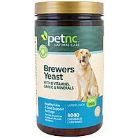 Petnc NATURAL CARE, Естественный уход за животными, пивные дрожжи, вкус печени, для взрослой собаки, 1000 жевательных пастилок