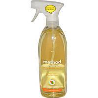 Method, Универсальное натуральное чистящее средство для поверхностей, имбирь и юзу, 28 жидких унций (828 мл)
