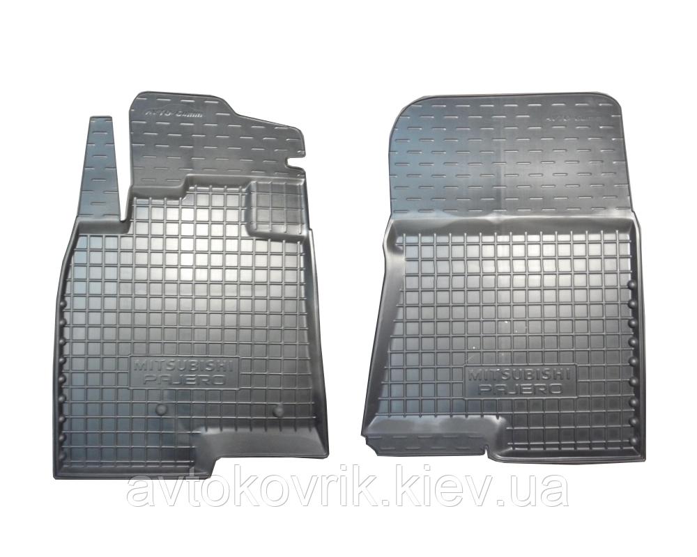 Полиуретановые передние коврики в салон Mitsubishi Pajero Wagon IV 2007- (AVTO-GUMM)