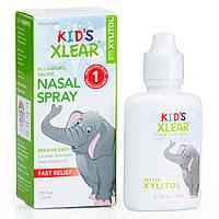 Xlear, Kid's Xlear, соляной раствор, спрей для носа, 0,75 жидкой унции (22 мл)