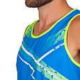 Форма для легкой атлетики мужская (синий-салатовый), фото 3