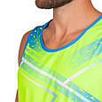 Форма для легкой атлетики мужская (лимонный-синий), фото 3
