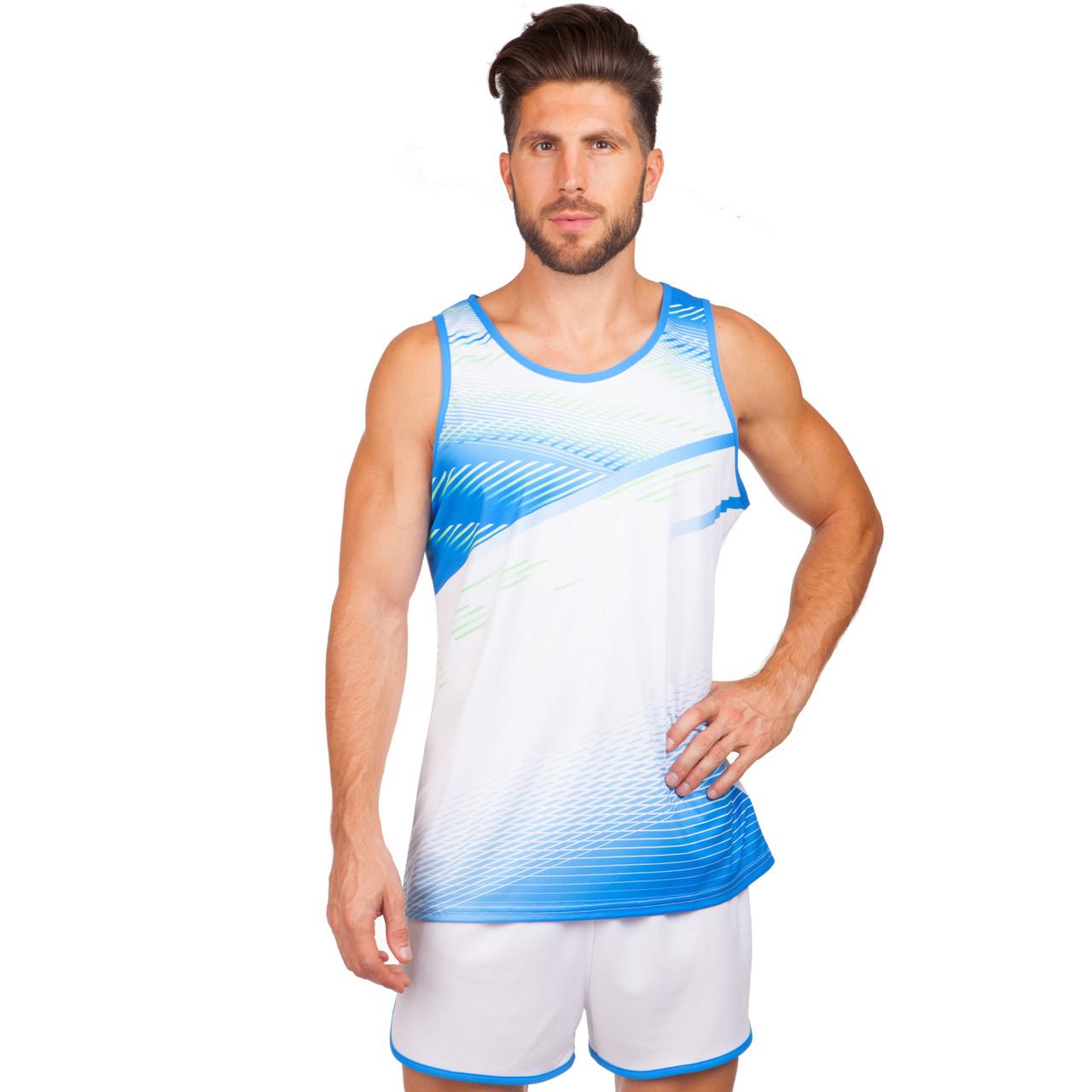Форма для легкой атлетики мужская (белый-син.)