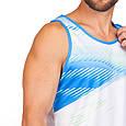 Форма для легкой атлетики мужская (белый-син.), фото 3