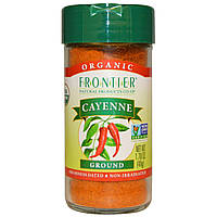 Frontier Natural Products, Молотый органический кайенский перец, 48 г