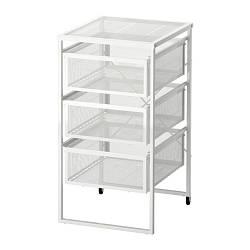 ИКЕА (IKEA) ЛЕННАРТ, 303.261.77, Тумба с ящиками, белый - ТОП ПРОДАЖ