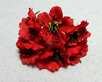 Цветы искусственные. Маки красные