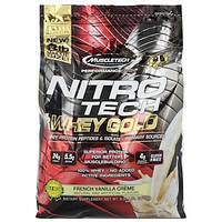 Muscletech, Performance Series, Nitro Tech, 100% Whey Gold French Vanilla Cr me, 8lbs (3.63 kg)