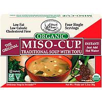Edward & Sons, Органический мисо-суп, традиционный суп с тофу 4 пакетика по 1 порции, 9 г каждый