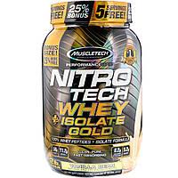 Muscletech, Nitro Tech, Whey Plus Isolate Gold, Vanilla Bean, 2 lbs (907 g)