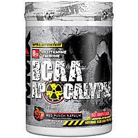 "MuscleMaxx, BCAA Apocalypse, Разминка перед тренировкой, B12 + глутамин + таурин, со вкусом красного пунша ""напалм"", 500 г (17,63 унции)"