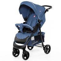 Коляска Детская Дитяча Коляска прогулочная Carrello Quattro Admiral Blue в льне арт. 8502