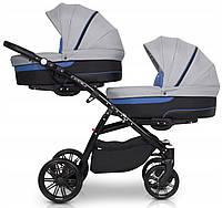 Детская универсальная коляска для двойни Riko Team 02