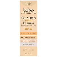 Babo Botanicals, Ежедневный прозрачный, солнцезащитный крем с оттенком, фактор защиты SPF 30, 50 мл
