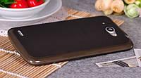 Чехол силиконовый прозрачный для Lenovo S920 IdeaPhone черный матовый