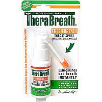 TheraBreath, Свежее дыхание, спрей для горла, 1 жидкая унция (30 мл)