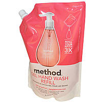 Method, Гель-мыло для рук в экономичной упаковке, Розовый грейпфрут, 34 жидких унций