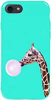 Чехол-накладка TOTO Pure TPU 2mm Print Case Apple iPhone 7/8/SE 2020 #37 Giraff Gum Mint #I/S