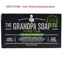 Grandpa's, Брусковое мыло для тела и волос, Pine Tar, 4.25 унц. (120 г)