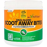 Zesty Paws, Scoot Away Bites, Здоровое пищеварение и иммунитет, Для собак, Для всех возрастов, Вкус курицы, 90 мягких жевательных таблеток
