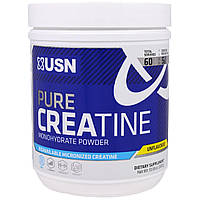 USN, Чистый креатин, Порошок-моногидрат, Без вкусовых добавок, 10,58 унции (300 г)