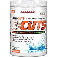 ALLMAX Nutrition, AMINOCUTS (ACUTS), аминокислоты с разветвлённой цепью для похудения (линолевая кислота + таурин + зеленый кофе), голубая малина, 525