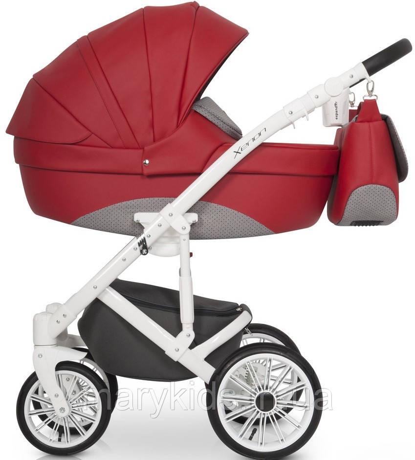 Детская универсальная коляска 2 в 1 Riko Xenon 03 Scarlet