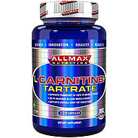 ALLMAX Nutrition, L-карнитина+ тартрат, 735 мг, 120 капсул