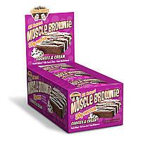 Lenny & Larry's, Печенье Muscle Brownie с кремом, 12 печений, 2,82 унции (80 г) каждое