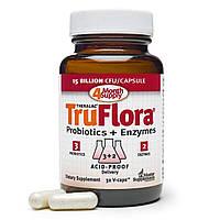 Master Supplements, TruFlora, пробиотики и ферменты, 32 вегетарианских капсулы