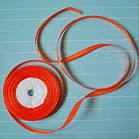 Лента атласная №5 (оранжевая) 6мм., фото 1