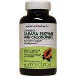 Пищеварительные энзимы Папайя с хлорофилом 250 жевательных таблеток из США,