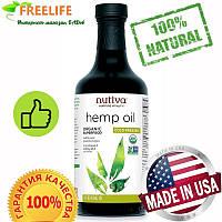 Nutiva, Органическое конопляное масло холодного отжима, 16 жидких унций (473 мл)