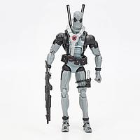 Реалистичная фигурка игрушка супергероя Дэдпула серого цвета с набором аксессуаров  - Gray Deadpool, Marvel, 15СМ