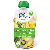 Plum Organics, Органическое детское питание, этап 2, банан, цуккини и амарантовая крупа 99г (3.5 oz)