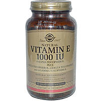 Solgar, Витамин E, 1000 МЕ, 100 вегетарианских мягких таблеток