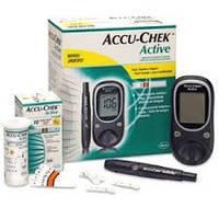 Глюкометр Акку-Чек Актив (Германия)+10 тест-полосок. Измеритель сахара в крови. Глюкометры домашние.