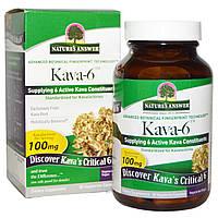 Nature's Answer, Kava 6, 90 V-Caps