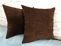 Подушка декоративная 40х40 темно- коричневая, фото 1