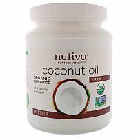 Nutiva Органическое кокосовое масло первого отжима 54 жидкие унции (1,6 л),