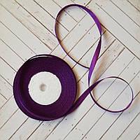 Лента атласная №14 (темно-фиолетовая) 6мм., фото 1