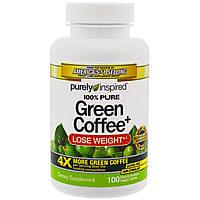Purely Inspired, Зеленый кофе+, 100 таблеток в растительной оболочке