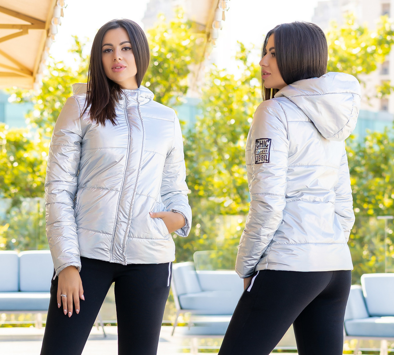 "Женская тёплая куртка холлофайбер 2278 ""ORIGINAL SILVER"""