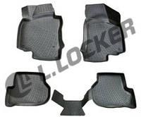 3D Коврики в салон Audi A4 (04-) (полимерные) L.Locker