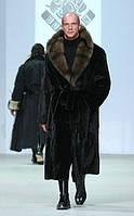 Шуба  мужская норковая с соболем