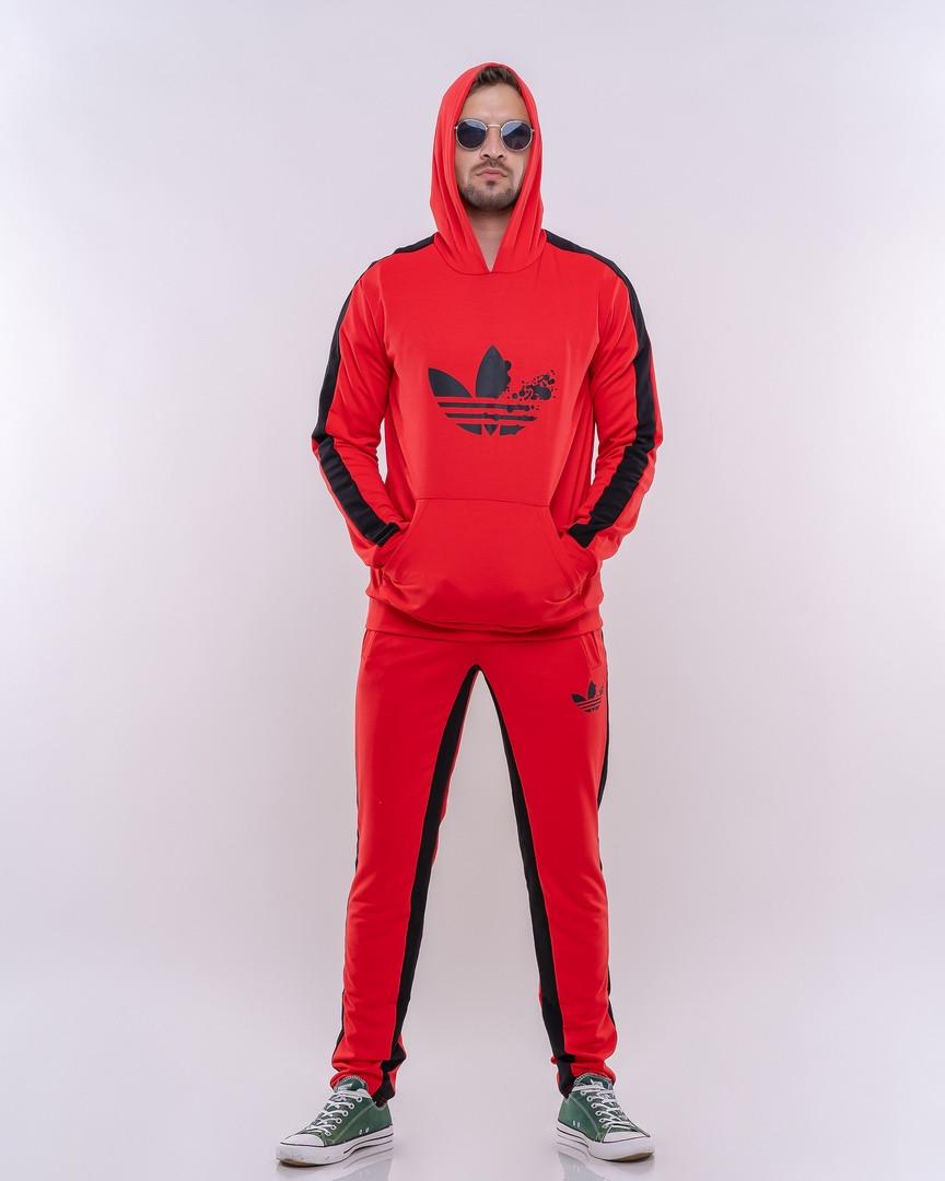 Мужской спортивный костюм  красный с черным Сл 1577