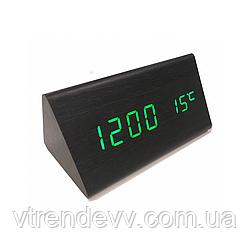 Часы электронные настольные с голосовым управлением LED VST-861 Original черные