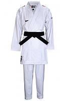Кимоно для карате SMAI Jin Kumite аккредитованное WKF с красными полосами (AS-034R, белое)