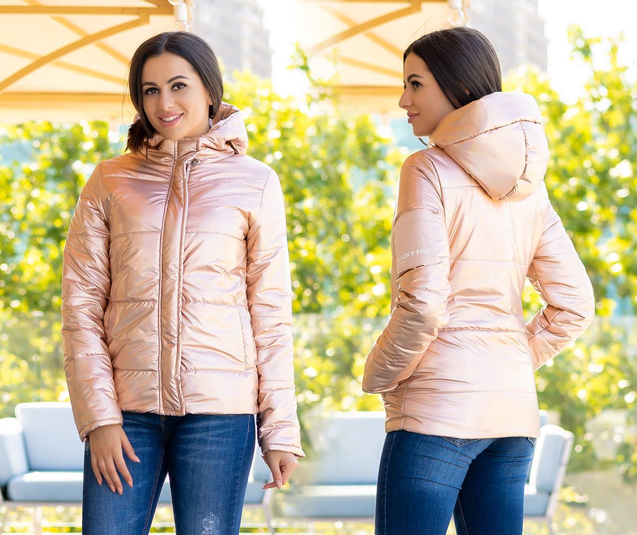 "Женская тёплая куртка холлофайбер 2277 ""ORIGINAL SILVER"""