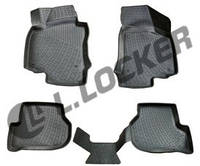 3D Коврики в салон Audi A4 (07-) (полимерные) L.Locker, фото 1